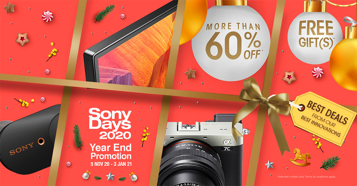 Sony Days 2020 Year End Promotion From 5 Nov 20 – 3 Jan 21
