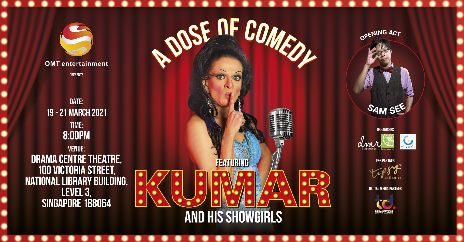 A Dose of Comedy – Win Tickets to Watch Kumar's Live Comedy!
